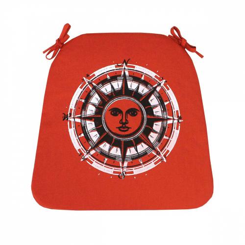 Стороны света. Оранжевая / Подушка для сидения, 41*41 см
