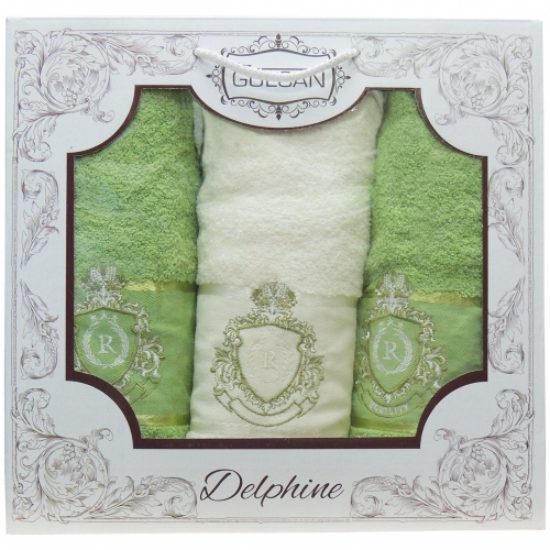 Delphine Gulcan DNZ / Полотенца в коробке, 3 шт. 50*90, 70*140, 50*90