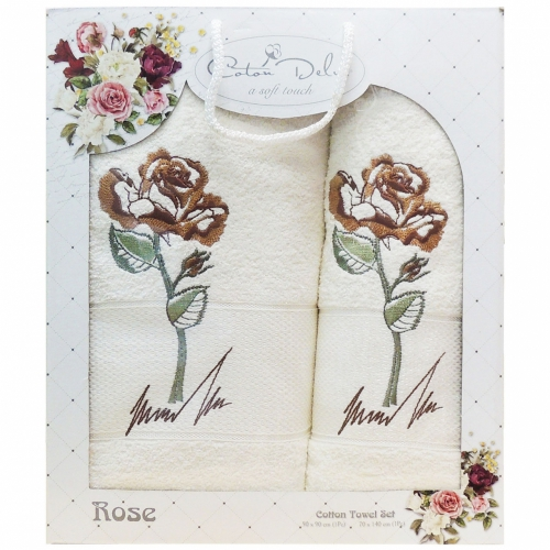 Rose Gursan / Полотенца в коробке, 2 шт. 50*90 и 70*140 см