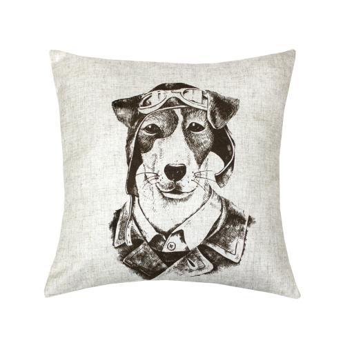 Собака-лётчик Bibop / Декоративная наволочка, 40*40 см