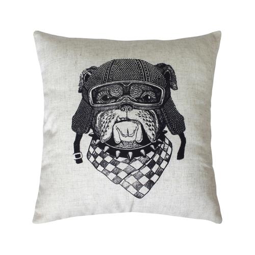 Пёс-байкер Bibop / Декоративная наволочка, 40*40 см