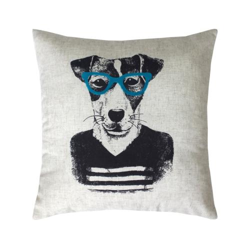 Собака в очках Bibop / Декоративная наволочка, 40*40 см