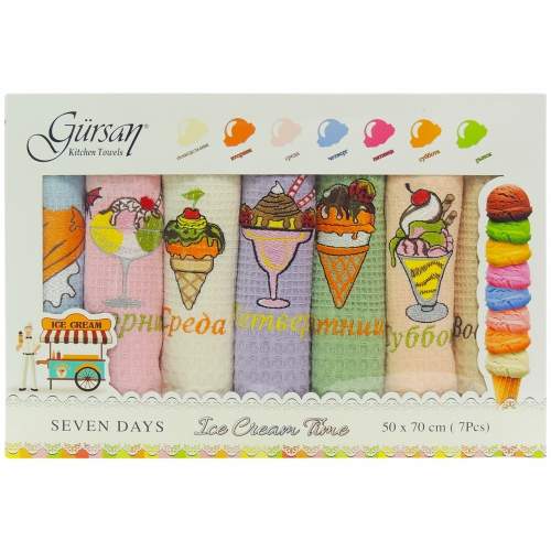 Seven Days Gursan / Кухонные полотенца-салфетки, 7 шт. 50*70 см