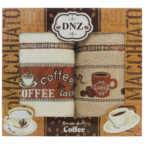 Coffee DNZ Gulcan / Кухонные полотенца-салфетки, 2 шт. 40*60 см