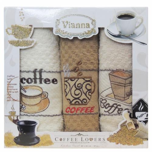 Vianna / Кухонные махровые полотенца-салфетки, 3 шт. 40*60 см