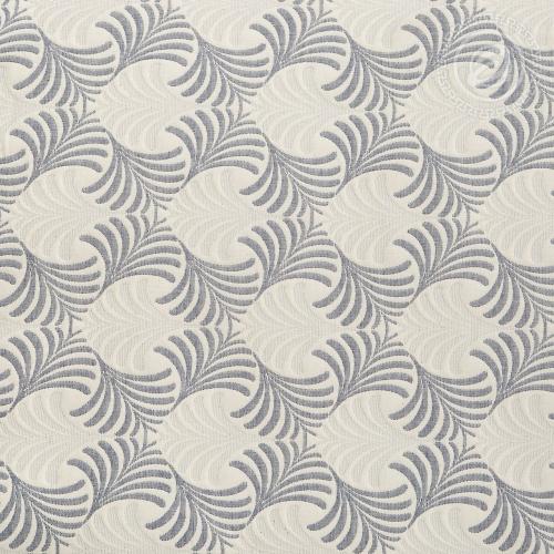 Сара сине-серая / Покрывало хлопковое жаккардовое, 180*235 см
