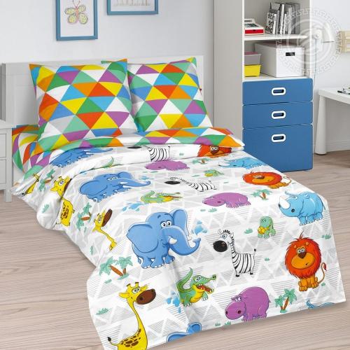 Весёлый зоопарк / Комплект 1,5-спальный